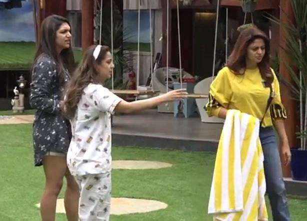 Neha Pendse, Srishty Rode and Kriti Verma in Bigg Boss 12