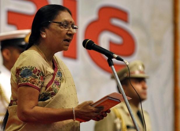 Anandiben Patel asks BJP to adopt poor kids for votes, Congress fumes