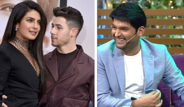 Priyanka Chopra, Nick Jonas and Kapil Sharma