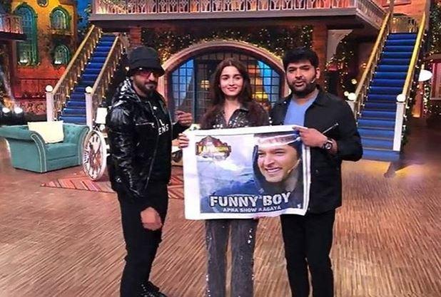 Ranveer Singh and Alia Bhatt on The Kapil Sharma Show