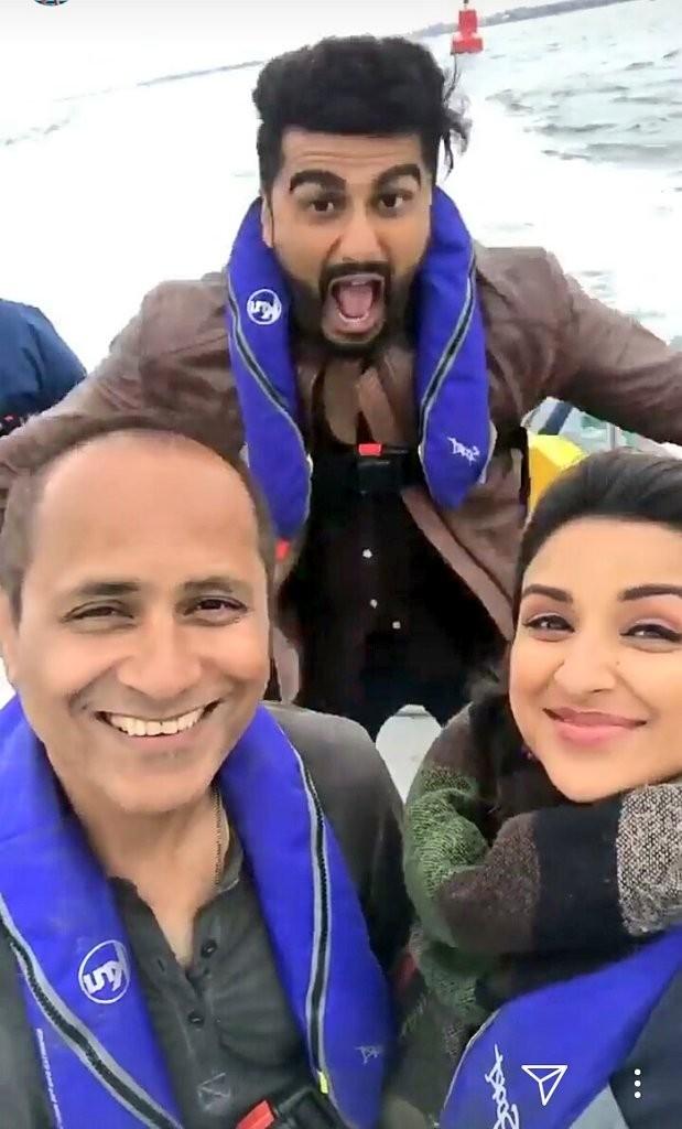 Arjun Kapoor,Parineeti Chopra,Vipul Amrutlal Shah,Namaste England,Namaste England on the sets,Arjun Kapoor and Parineeti Chopra
