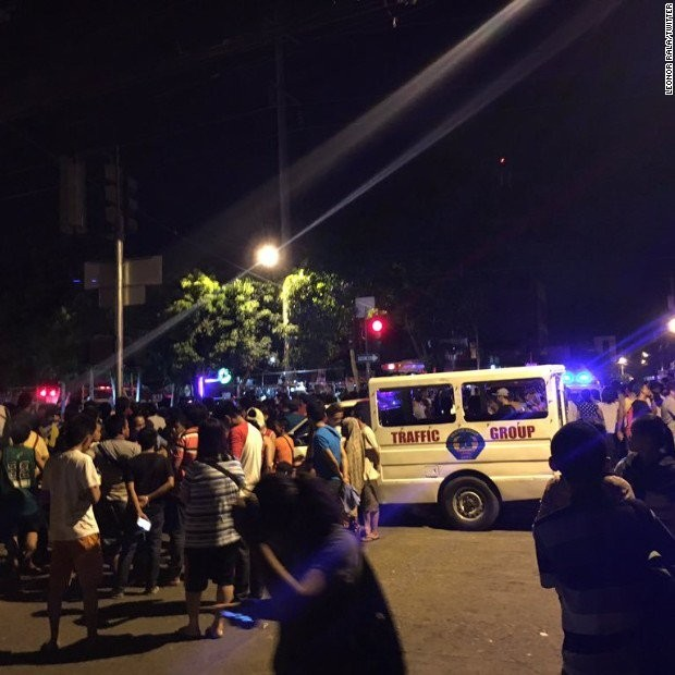 At least 14 persons were killed and 67 others injured in an explosion at a market in Philippines' Davao city, police officials said on Saturday.