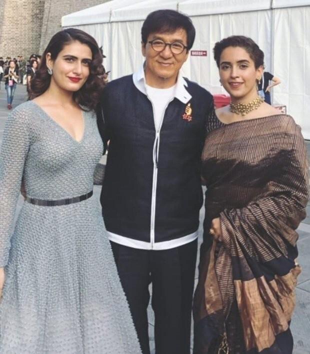 Fatima Sana Shaikh and Sanya Malhotra,Fatima Sana Shaikh,Sanya Malhotra,Jackie Chan,Fatima Sana Shaikh with Jackie Chan,Sanya Malhotra with Jackie Chan,Dangal,Dangal actresses with Jackie Chan