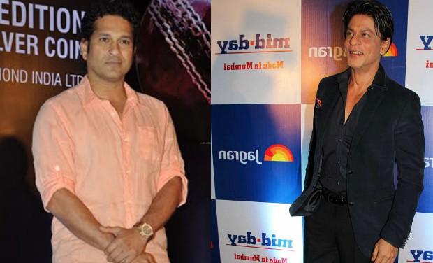 Sachin Tendulkar and Shah Rukh Khan