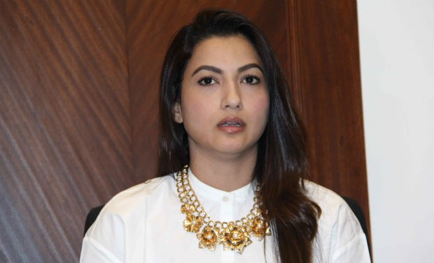 Gauahar Khan during press meet
