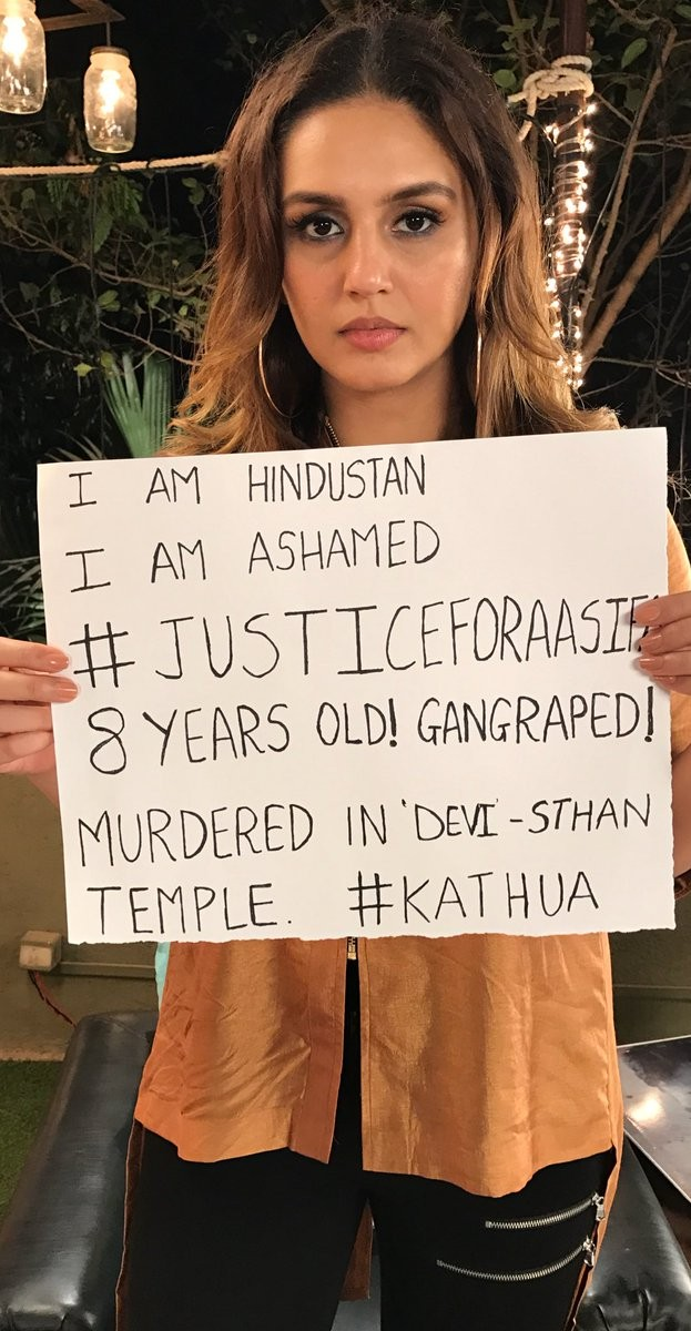 Gul Panag,Danish Aslam,Mini Mathur,Justice for Aasifa,Kathua rape victim,Kathua rape,Bollywood celebrities on Kathua rape case,Kathua rape and murder case