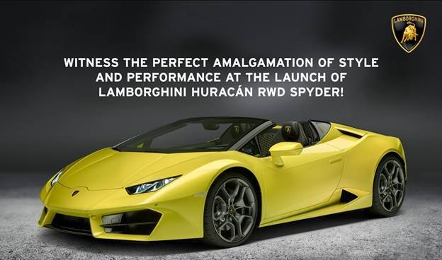 Lamborghini Huracan Rwd Spyder Launch Date In India Confirmed Price