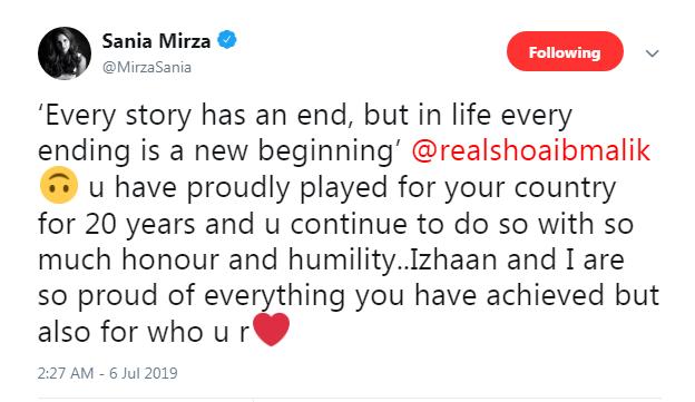 Sania Mirza tweet