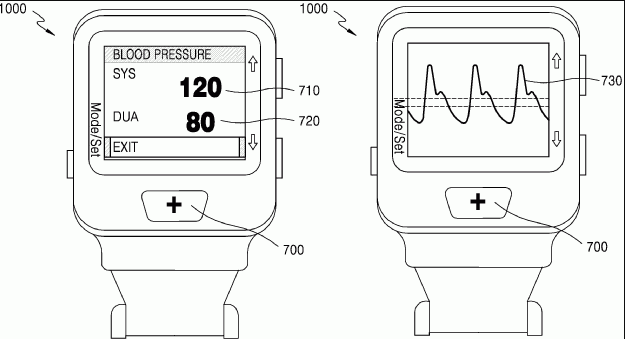 Samsung Galaxy gear X patent