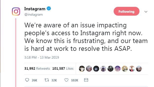 instagram tweet