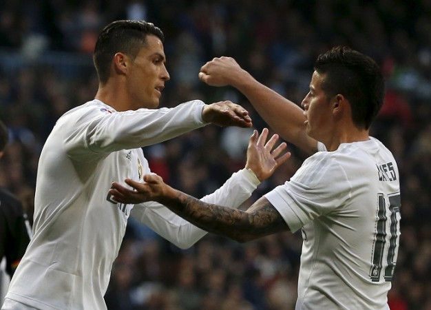 Cristiano Ronaldo James Rodriguez Real Madrid