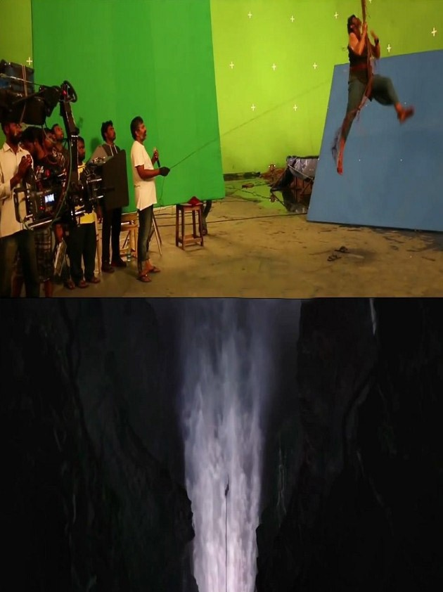 Baahubali Before and After VFX Shots,Before and After VFX Shots,Baahubali