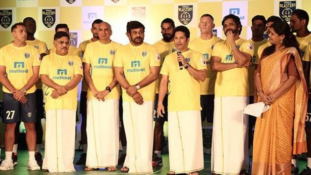 Sachin Tendulkar,Nagarjuna,Nivin Pauly,Kerala Blasters team,Kerala Blasters,Megastar Chiranjeevi,Chiranjeevi,kerala blasters team,kerala blasters team 2016