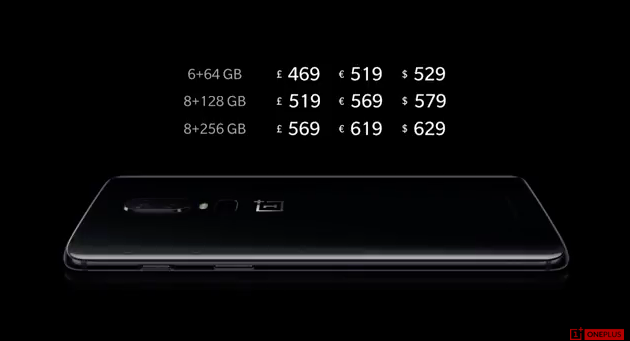 OnePlus 6 price revealed