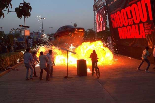 Staged blast during the launch of live trailer of ' Shootout At Wadala'
