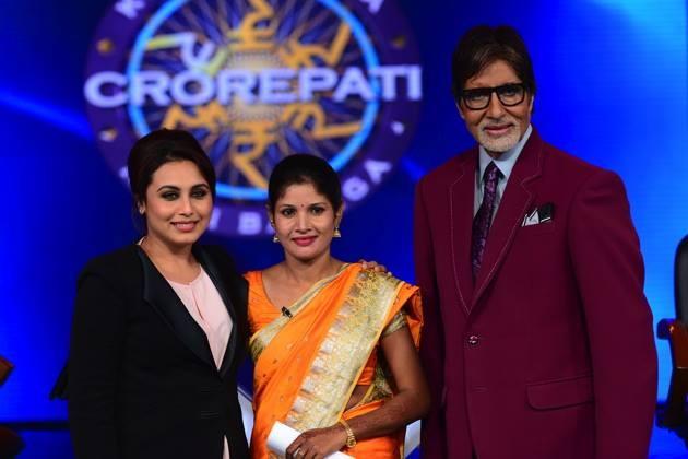 Rani Mukerji, Fatima Khatun, Amitabh Bachchan on KBC 8