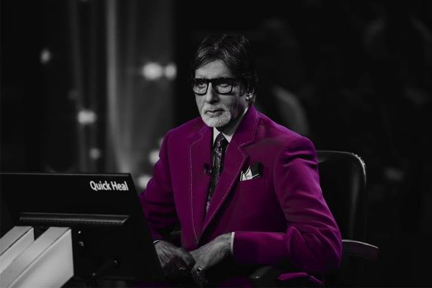 Amitabh Bachchan on the sets of 'KBC 8'