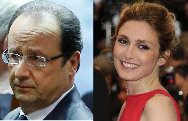 French President Francois Hollande and actress Julie Gayet