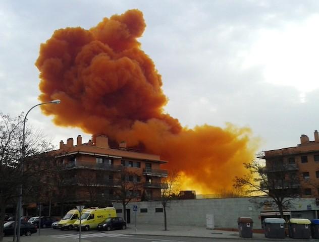 Orange Toxic Cloud in Spain