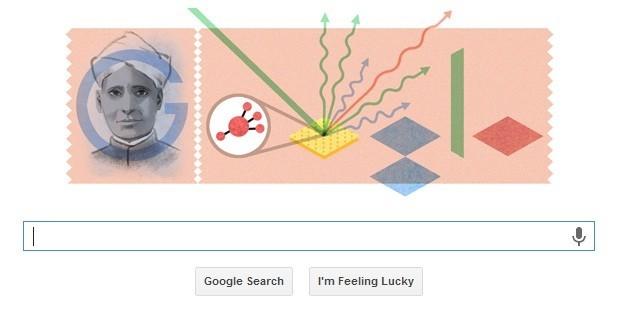 Sir C V Raman Google Doodle