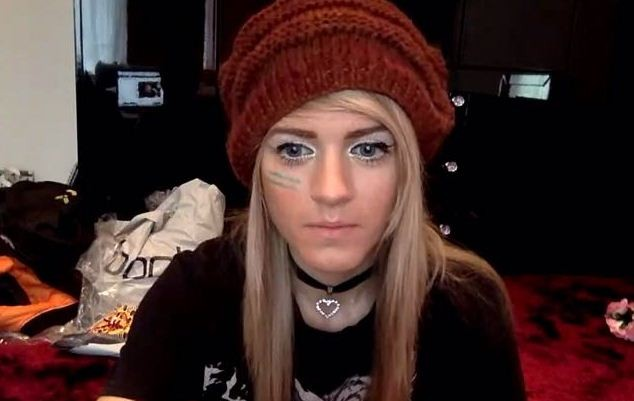 A still of Marina Joyce from her YouNow video