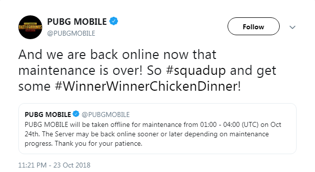 PUBG Mobile update: Servers back online, Night Mode in 0 9 0