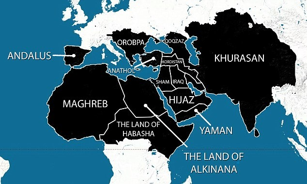 ISIS Map of the world