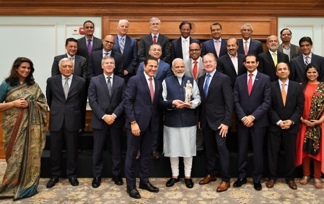 Modi meets US india strategic partnership forum members