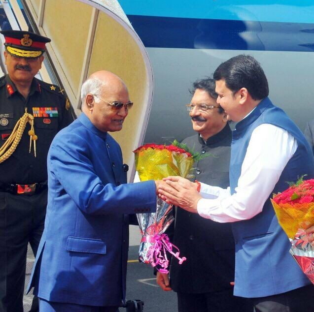 President Ram Nath Kovind,Ram Nath Kovind,Ram Nath Kovind in Maharashtra,Ram Nath Kovind visit Maharashtra