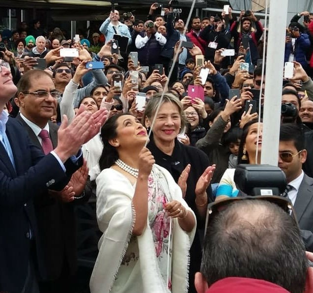 IFFM,Indian Film Festival of Melbourne,Rani Mukerji,Rani Mukerji hoists Indian flag,Rani Mukerji at IFFM,Rani Mukerji at Indian Film Festival of Melbourne