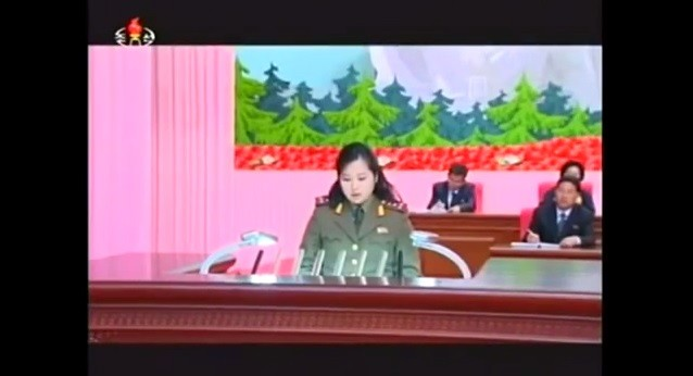 North Korean Leader Kim Jong-un's ex-girlfriend who was believed to have be executed by the leader last year, was shown speaking recently on national TV.