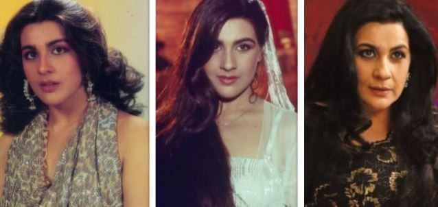 Amrita Singh then and now