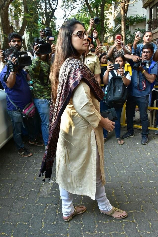Genelia D'Souza,Nagma,Sridevi funeral,sridevi funeral ceremony,Sridevi,Anil Kapoor,celebs at Anil Kapoor residence,Anil Kapoor residence