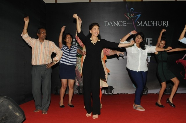 Actress Madhuri Dixit Nene during the launch of  'Dance With Madhuri' (DWM) Version 2.0 in Mumbai.