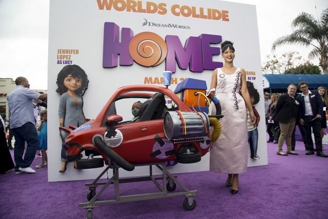 Rihanna,jennifer lopez,Jim Parsons,Tim johnson,Home,Home animated film,special screening of home