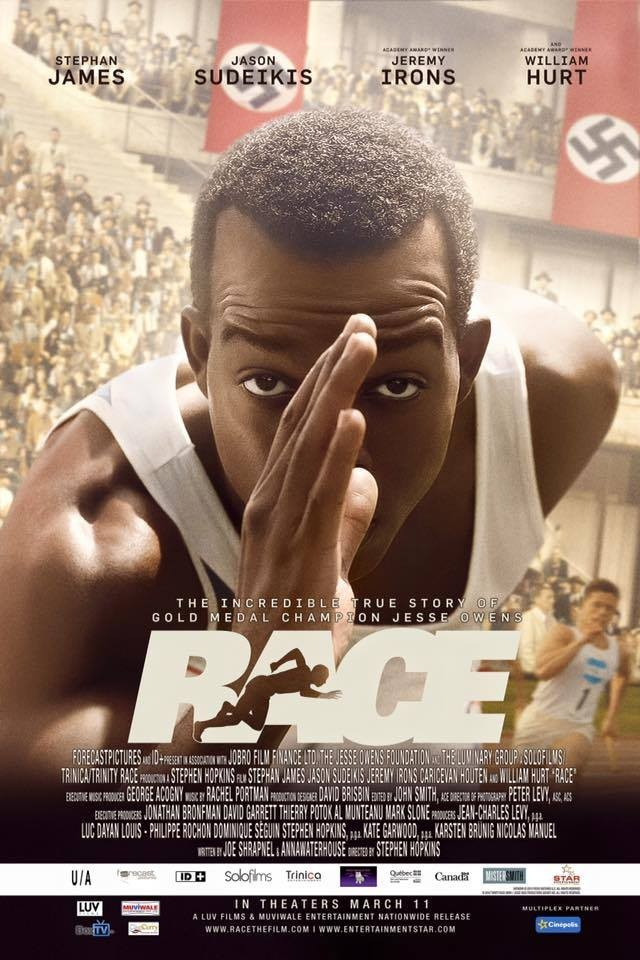Stephan James,Race,race first look,race first look poster,race poster,Jason Sudeikis,Jeremy Irons,Hollywood movie race