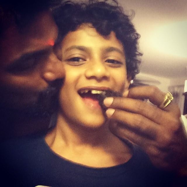 Remo D'Souza with his son