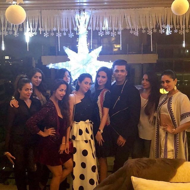 Kareena Kapoor,Karisma Kapoor,Karan Johar,Malaika Arora,Amrita Arora,Seema Khan,Bhavna Pandey,Pre-Christmas Bash