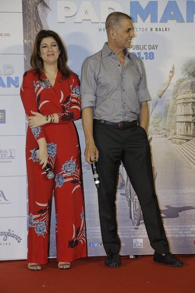 Akshay Kumar,Twinkle Khanna,Aaj Se Teri song launch,Aaj Se Teri,Aaj Se Teri song,Padman,Padman songs,Padman song launch,Radhika Apte