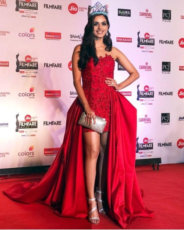 Miss world 2017 Manushi Chillar,Manushi Chillar,63rd Filmfare Awards,Filmfare Awards 2018,Filmfare Awards,Filmfare Awards pics,Jio Filmfare Awards 2018,Filmfare Awards images,Filmfare Awards stills,Filmfare Awards pictures