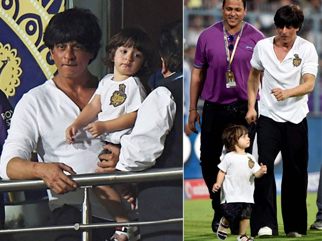 Shah Rukh Khan and his son AbRam turned into a doll,starkid,Shah Rukh Khan,AbRam,Shah Rukh Khan and AbRam,srk,Bollywood Badshah Shah Rukh Khan,actor Shah Rukh Khan