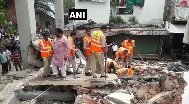 Two-storey building collapses in Madhya Pradesh's Vidisha