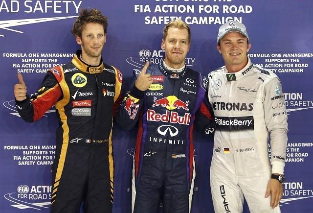 Vettel Grosjean Rosberg Formula One