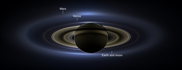 NASA's Cassini releases image of Saturn and Earth