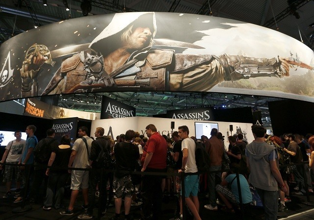 Assassins Creed IV exhibition stand at Gamescom 2013.