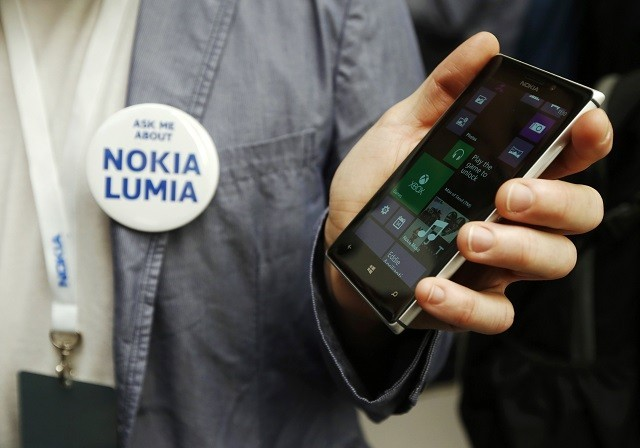 Nokia Lumia 925 at its launch in London, 2013.