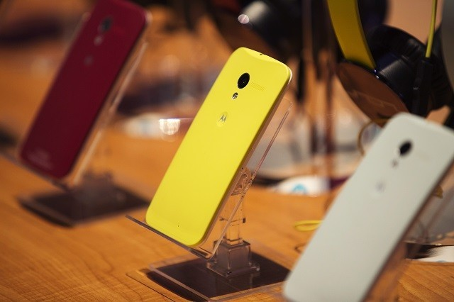 Moto X at its launch event in New York, 2013.