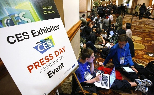 CES 2013 Press Day in Las Vegas, 2013.