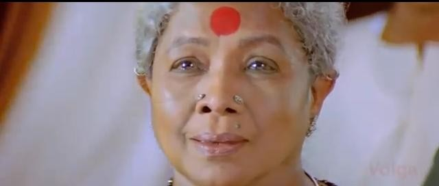 "Manorama screenshot from Telugu film ""Arundati"""