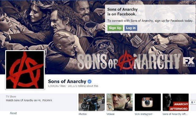 Sons of Anarchy (Facebook Screengrab)